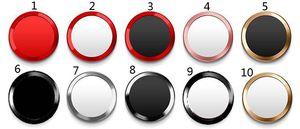 Toque ID aluminio del metal de la aleación del botón del hogar del caso protector de la etiqueta engomada redonda para el iPhone 8 8plus 7 7plus 6 6s 5s 5