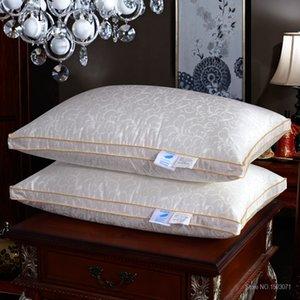 Atacado- Neck Pillow Baixo Pillow / com pillow-Enchimento e Silk Almofadas Tampa Fast Ship gratuito