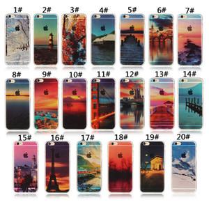 Для Apple iphone 6 6 S плюс 7 плюс 5S SE силиконовый чехол пейзаж покрытие ТПУ сотовый телефон случаях Элизабет башня Биг Бен Эйфель