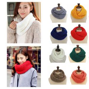 Mujeres Invierno Infinity Bufanda Casual Cálido Knitting Anillo suave Bufandas Cuello redondo Snood Scarf Shawl para Lady W015
