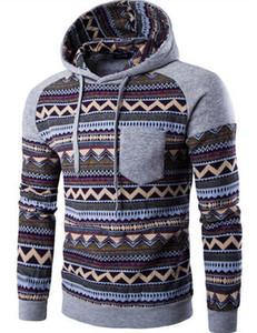 Sconto all'ingrosso di abbigliamento 2016 nuovi uomini di, Felpe moda, i cinesi avvolgono la stampa digitale, a maniche lunghe dimensioni casuale hoodie: M-2XL