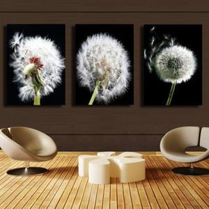 3 Pcs / Set 흰색 꽃 HD 캔버스 인쇄 그림 홈 장식 벽 예술 그림 삽화 # 16