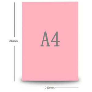 ورق ملون وردي 80 GSM طابعة نسخ 100 ورقة نسخ ورقة الحرف ورقة ديي