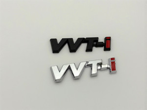 2Pcs / lot VVTi VVTi lettera marchio dell'automobile della decalcomania del baule posteriore del distintivo dell'emblema Sticker per Toyota Car Styling