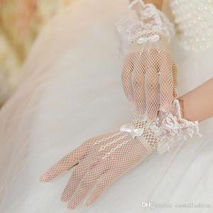 الجملة الرخيصة جديد العروس الرباط العروس الزفاف قفازات القوس التعادل شبكة اكسسوارات للحزب الزفاف الرسمي