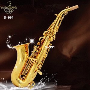 Yanagisawa curved Soprano saxophone S-991 B flat Musical Instrument Adult and Children saxophone Professional-grade performance Free
