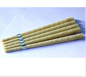 hot sale pure beewax ear candle, unbleached organic muslin fabric,with protective disc+CE quality approval,1