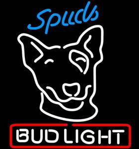 Bud Light Spuds Неоновый знак Неоновый знак Свет пивной бар LIGHT 24 * 20