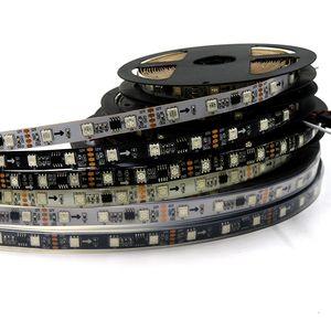 WS2811은 DC12V 화이트 RGB 스트립 5m 48leds / m 16pcs ws2811 IC / m 5050 SMD 주도 / 블랙 PCB 유연한 2811 LED 스트립 주소 디지털 픽셀 빛