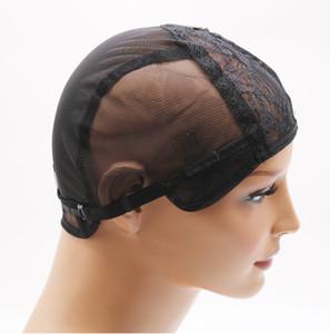 DIYDIY doble encaje peluca gorras para hacer pelucas y el cabello que teje estiramiento ajustable gorra de la peluca caliente negro domo para la peluca peluca