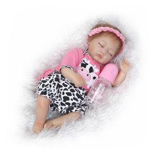 Uyuyan babu bebek 22 inç Çok yumuşak silikon vinil reborn doll gerçekçi gerçek dokunmatik çocuk oyun oyuncaklar