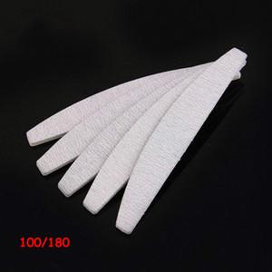 Hot 100 arenas PC / porción de papel de lija de buena calidad manicura profesional 100/180 cebra gris lima de uñas media luna para ir de compras libre de salón