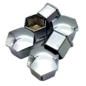 20 × غطاء العجلة الجوز مركز غطاء كاب لبيجو 3008 2008 508 408 308 307 فضة