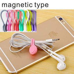 MP3 Kulaklık kablosu bobin sarma kablo sarıcı kablo tutucu, MP4 kulaklık silikon manyetik tip pounted