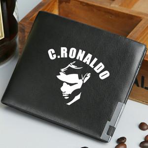 Portefeuille Cristiano Ronaldo Porte-monnaie étoile du football CR7 Porte-billets de football joueur de football C Porte-billets d'argent Porte-monnaie en cuir Porte-cartes