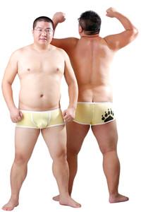 Nuovo arrivo Bear Claw Boxer Plus Size uomo Bear Paw Underwear vita bassa progettato per Gay Bear 6 colori M L XL XXL