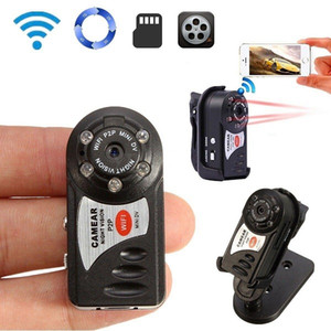 Protable Mini WiFi IP Cámara Q7 Mini Sports DV DVR Wireless IR Vision Night Vision PC WebCam DVR Video Videocámara con caja de venta