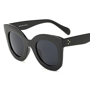 EL CIERO Высокое Качество Солнцезащитные Очки Cateye Для Женщин Мужчин Летняя Мода Cat Eye Солнцезащитные Очки Унисекс Дизайнер Оттенки UV400