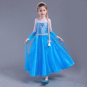 Новое платье костюмы с длинным рукавом юбка с плащом Принцесса партия носить одежду для Хэллоуина День Святого Принцесса мечта дрес