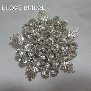 Real Photo Luxury Crystal Broche de Plata Rhinestone Floral Hoja Formal o Casual Vestido Broches Accesorio Nupcial Wedding Party Dress Jewelry