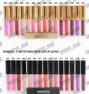 Бесплатная доставка ePacket Новый макияж губы M9204 / M9203 Matte Lip Gloss антипригарной Cup Блеск для губ! 4.8g