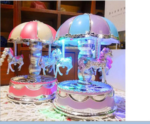 2017 New Carousel Music Boxes HOT Chrismas Birthday Gifts Merry-Go-Round Music Box For Kids Valentine's Gift Best Show In Love