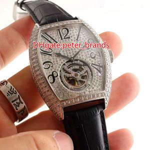 Dernière montre pour hommes de luxe avec volant magnétique, boucle originale de la montre en acier inoxydable avec diamant en acier inoxydable