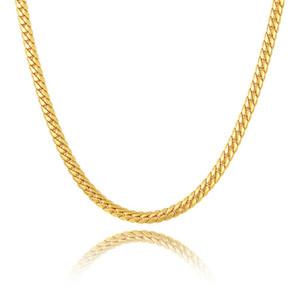 """5 мм 51 см 20 """" 18 K желтое золото покрытием змея кости ссылка цепи Ожерелье для мужчин женщин для свадьбы Jn1055"""