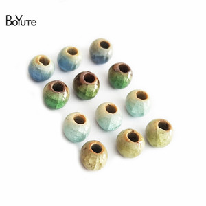 BoYuTe 100Pcs 6MM perline in ceramica materiali fatti a mano fai da te perline in ceramica perline gioielli in ceramica per fare gioielli