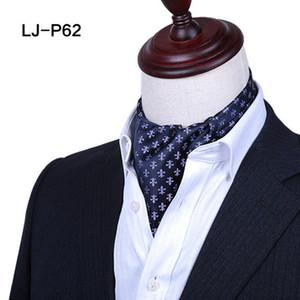 Elegante Männer Paisley Floral Cravat Ascot Krawatte Vintage Polka Dots Blume Polyester Schals Krawatten Hochzeits Party formale Herren Krawatte Business