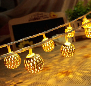 Solar Battery Operated Moroccan Ball Warm White Light String Lights,11.5ft 10LED Metallic Silver Christmas Decoration Moroccan Ball String L
