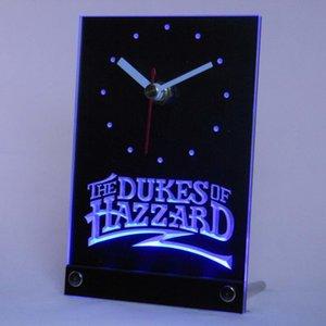 Wholesale-tnc0236 L'horloge LED du bureau de table 3D ducs de Hazzard