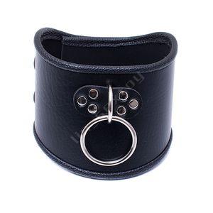 520 * 100 мм Choker черный кожаный ошейник с тяговым кольцом регулируемый ремень работорговли собаки Фетиш Bondage BDSM шейный ремень продукт секса