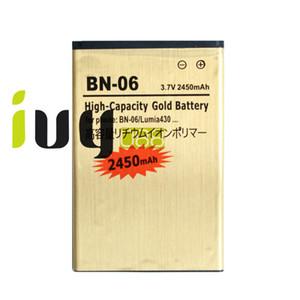 2450 mah bn-06 bn06 bn 06 bateria de substituição de ouro para microsoft nokia lumia 430 lumia430 baterias batterij batterij