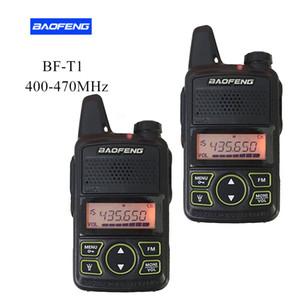 2PCS / Par BAOFENG T1 MINI Two Way Radio BF-T1 Walkie Talkie UHF 400-470MHz 20CH portátil Ham FM Radio Handheld Transceiver