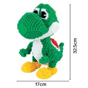 Blocos de Montagem de Conexão Xizai Mario Modelo brinquedo Luigi blocos de Desenhos Animados Yoshi tamanho Grande Leilão Figura Educacional Presentes para Crianças Presentes de Natal