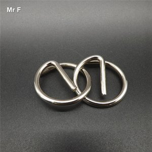 Letter E Metal Ring Puzzle Push Your Brain Toys Quality Of Workmanship IQ Brain Teaser Test Mind Game