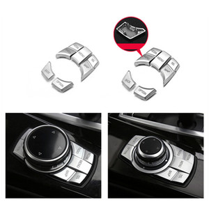 인테리어 교체 멀티미디어 버튼 장식 커버 트림 장식 조각에 대한 BMW의 X5 X6 1/2/3/4/5 시리즈 F10의 F30의 F20 E70 E71 자동차 액세서리