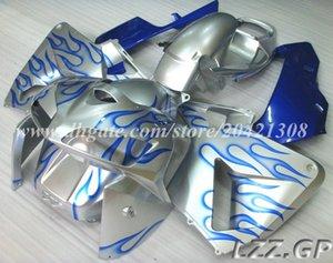 CBR600RR 05 06 Injection fairings+tank For Honda CBR600RR F5 2005 2006 CBR600 RR 2005 2006 F5 fairing sets #j38b4 Silver blue flame