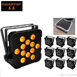 TIPTOP TP-G3045-5IN1 10XLOT RGBWA piatto Led Par Luce American DJ Mega piatto TRI Pak LED luce par ProSound 10in1 flight pack con ruote