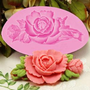 3D Rose Blume Kuchen Silikonform Fondant Kuchen Dekorieren Schokolade Süßigkeiten Formen Harz Ton Seifenform Küche Backen Kuchen Werkzeuge