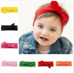 Kafa Dalga noktası Turban twist Başkanı Wrap Twisted Knot Yumuşak Saç bandı Bantlar Bandanas yay Noel Bohemian pamuk kız bebek