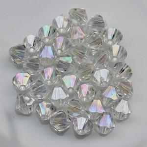 Fabrika toplu toptan Kızlar Bilezik Takı Spacer charms 6 MM 8 MM 1000 adet akrilik bicone AB Renk kristal boncuk