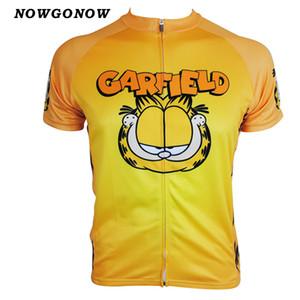 Hombres 2017 jersey de ciclismo gato amarillo Garfield Cartoon Retro maillot ciclismo ropa de equipo desgaste de la bicicleta de carreras mtb road sportwear