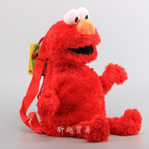 Alta Qualidade 3 Cor Sesame Street Elmo Plush Backpack Chilren Stuffed Dolls Plush Bag 42 centímetros