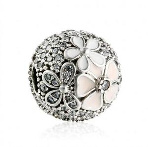 Poetic Blooms Clipes Fixos Encantos Beads Authentic 925 Sterling Silver Jewelry Flor Stopper Bloqueio Bead Para Pulseiras DIY Fazendo Acessórios