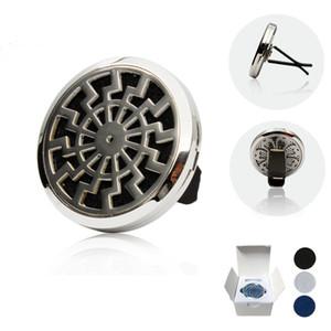 Nuovo 5 pz / lotto 38mm In Acciaio Inossidabile 316L Auto Deodorante Aromaterapia Olio Essenziale Diffusore Locket Con Vent Clip (feltro gratuito pad) AC-09