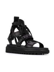 Haut haut Véritable en cuir Rome Gladiateurs pour hommes À Lacets Strappy Noir Sandales Mode Casual Chaussures Hombre Sapatos 2017