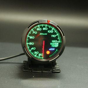 13 Color de luz de fondo en 1 60mm Racing DEFI BF Link Auto Gauge Temperatura del agua Indicador Sensor de temperatura del agua Meter