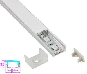 50 X 1M Sätze / Los China eloxiert U-Typ LED-Einbauleiste und Aluminium-Profilgehäuse für Wand- oder Bodenleuchten